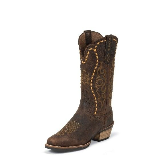 Justin Boots Women's Justin Copper Buffalo Silver Collection Boots - Reg $179.95 now 25% OFF!