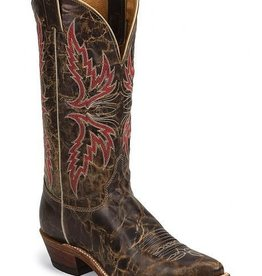 Justin Boots Men's Justin Bronte Lodge Distressed Brown Boots, U.S.A. Made - Reg. $194.95 @ 35% OFF!