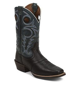 Justin Boots Men's Justin Black Silver Collection Boots