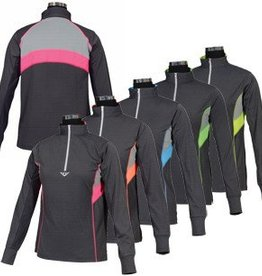 Neon Mock Zip Sport Shirt