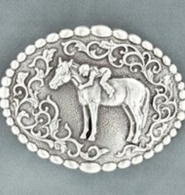 Nocona Youth Dot Edged Belt Buckle - First Love!