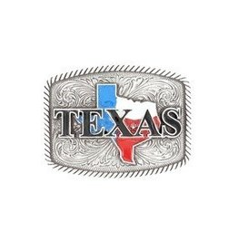 M & F Western Products Nocona Belt Buckle- Texas Rectangle