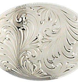 WEX Oval Silver Belt Buckle
