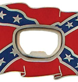 WEX Rebel Flag Bottle Opener Buckle 3 x 2