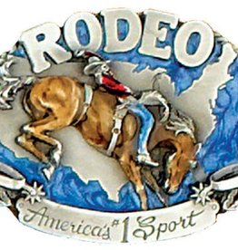 WEX Rodeo Belt Buckle  3 x 2 1/4