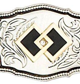 Western Express Square Dance Belt Buckle