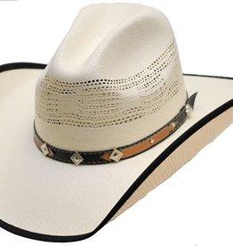 Western Express Children's Natural Straw Hat w/Trim on Brim