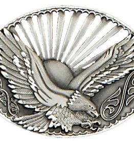 "WEX Sunset Eagle Belt Buckle  3.75""x2.75"