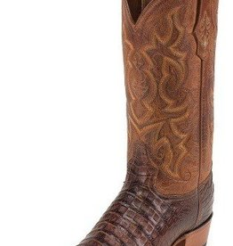 Tony Lama Men's Tony Lama Arlow - Vintage Belly Cut Caiman Cognac - 9.5EE (last pair of the style) - PLEASE CALL STORE FOR SPECIAL PRICING on this last pair Caiman Boots at GHS!