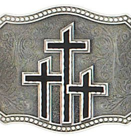 WEX Triple Cross Belt Buckle black
