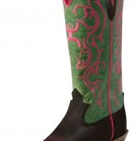 "Twisted X, Inc Women's Twisted X Hooey 11"" Boot Brown/Lime"