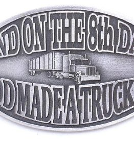Western Express Buckle - And on the 8th Day Buckle God Made a Trucker