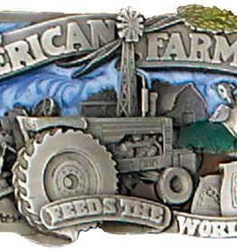 Western Express American Farmer Belt Buckle