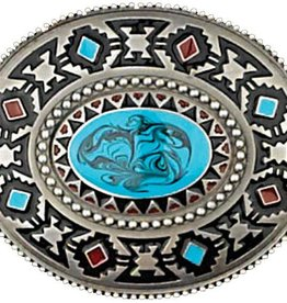 WEX Southwest Blue Stone Belt Buckle