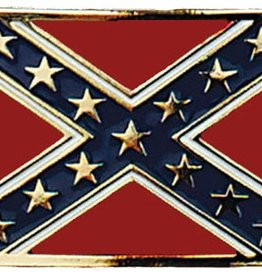 Western Express Confederate Flag Buckle Gold
