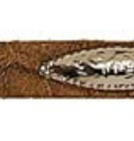 Western Express Hat Band Brown Belt with Conchos and Buckle