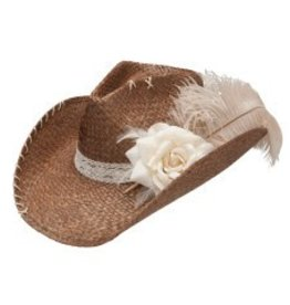 Charlie 1 Charlie 1 Horse Ellie Mae Straw Hat, Brown