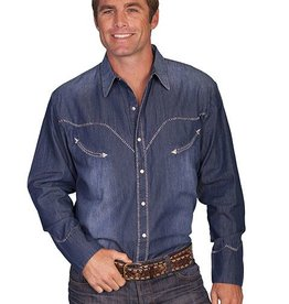 Scully Men's Scully Denim Whip Stitch Shirt - Large