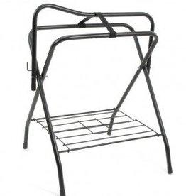 JT International Folding Floor Saddle Stand - Black