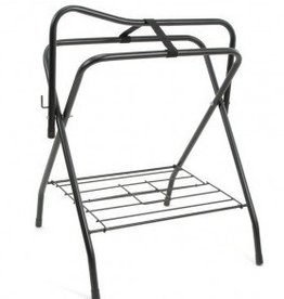 Tough1 Folding Floor Saddle Stand - Black