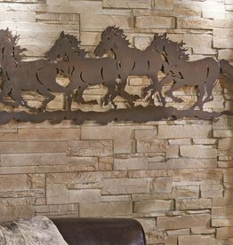 Giftcraft Inc. Metal Horses Design Wall Plaque