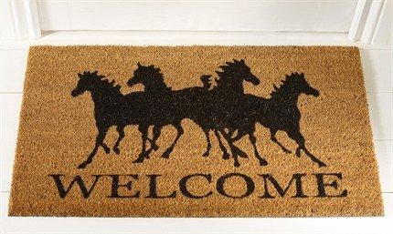 Merveilleux Horse Design Coir Doormat