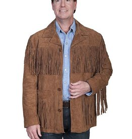 Scully Sportswear, INC Men's Scully Cinnamon Boar Leather Fringe Jacket