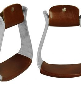 Light Weight Aluminum Stirrups w/Candy Button Conchos