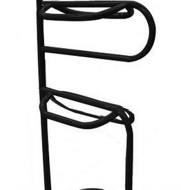Showman Three Tier Tubular Saddle Rack, Black - Easy Assembly