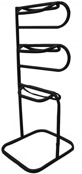 showman three tier tubular saddle rack  black