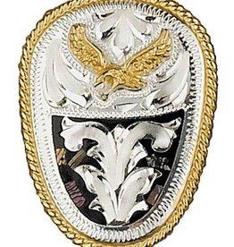 WEX Bolo Tie - German Silver & Abalone Eagle