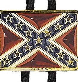 Western Express Bolo Tie - Confederate Flag Gold Trim