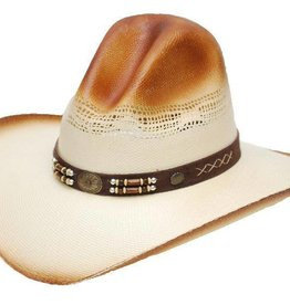 Western Express Gus Style Straw Hat Natural Brow S/M