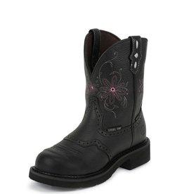 Justin Work Boots Women's Justin Gypsy Black Pebble Grain Waterproof Steel Toe Work Boots
