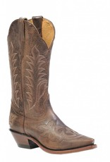 Boulet Western Boots INC. Women's Boulet Snip Toe Western Boot Brown Stitch