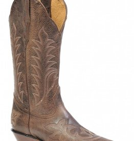 Boulet Western Women's Boulet Snip Toe Western Boot Brown Stitch - Proudly Canadian!!