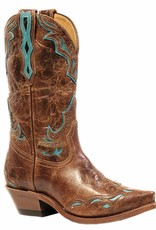 Boulet Western Boots INC. Women's Boulet Snip Toe Western Boot Turq Overlay - Proudly Canadian!