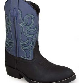 Smoky Mt Boots Monterey Childs Western Boots Black/Blue 2.5