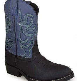 Smoky Mt Monterey Childs Western Boots Black/Blue 2.5