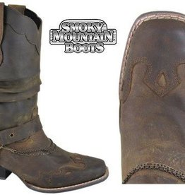 Smoky Mt Boots Ladies Avalon Western Boot Brown 9