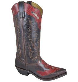 Smoky Mt Boots Vienna Distressed Boot Brown/Red 8.5 M