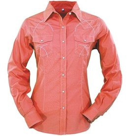 Outback Trading Company LTD Women's Outback Milia Blouse - Coral, XX-Large