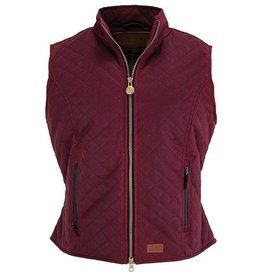 Outback Trading Company LTD Ladies Quilted Oilskin Vest - Berry, Medium
