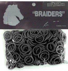 """Intrepid International Braiders"""" Braid Bands black 500/bag"""