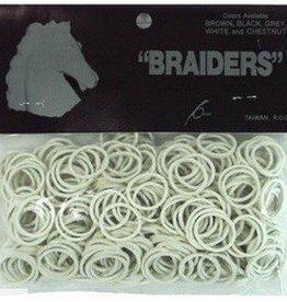 "Intrepid International Braiders"" Braid Bands white 500/bag"