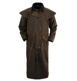 Outback Trading Company LTD Outback Stockman Oilskin Duster - Brown, Small