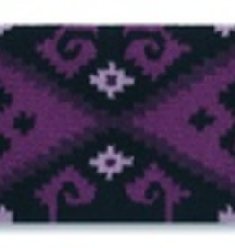 Mayatex Mayatex Chaparral Wool Saddle Blanket Grape & Black, 36x34