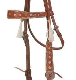 Alamo Saddlery Old Timer Headstall Carmel Toast Horse