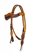 Alamo Sleek Wave Overlay Headstall Copper Horse