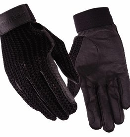 JPC Equestrian Crochet Back Gloves - 6 Black 6